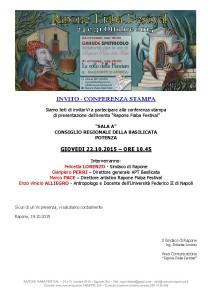 INVITO - CONFERENZA STAMPA DEL 22.10.2015 A POTENZA